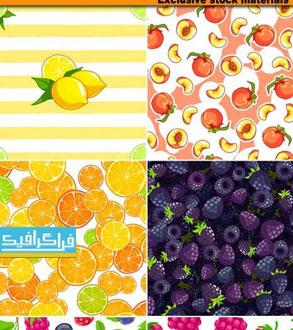دانلود وکتور پترن های میوه - Fruit Patterns