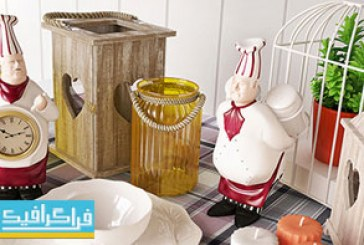 دانلود مدل سه بعدی وسایل دکوری آشپزخانه