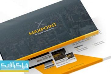 دانلود قالب پاورپوینت حرفه ای و کامل Maxpoint