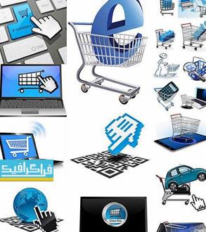 دانلود وکتور طرح های خرید آنلاین و اینترنتی