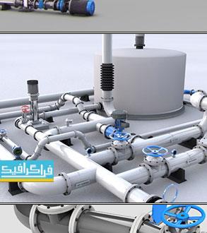 دانلود مدل های 3 بعدی لوله - سینما 4D