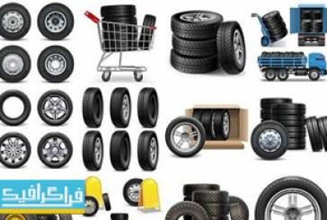 دانلود وکتور های لاستیک خودرو – Tire Vectors