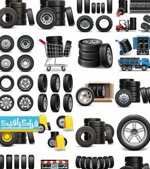 دانلود وکتور های لاستیک خودرو - Tire Vectors