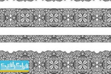 دانلود وکتور طرح های حاشیه گلدار کلاسیک – شماره 2