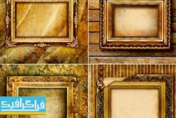 دانلود تصاویر استوک قاب های طلایی آنتیک