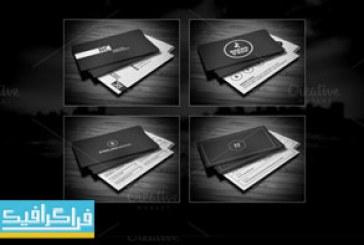 دانلود کارت های ویزیت لایه باز سیاه و سفید
