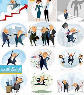 وکتور شخصیت های کارتونی تاجر - شماره 5