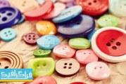 دانلود تصاویر استوک دکمه های رنگی لباس