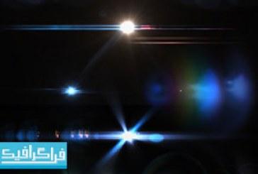 فایل لایه باز فتوشاپ نور های رنگی – رایگان