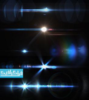 فایل لایه باز فتوشاپ نور های رنگی - رایگان