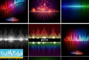 دانلود وکتور طرح های اکولایزر موزیک – رنگارنگ