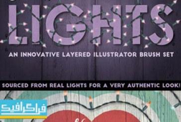 دانلود براش ایلوستریتور لامپ های کوچک نورانی