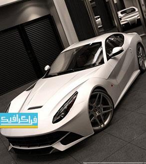 دانلود مدل سه بعدی اتومبیل فراری - کامل