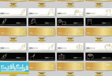 دانلود وکتور بنر های طلایی Golden Banners – شماره 2