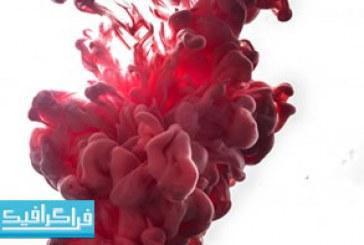 تصویر استوک جوهر قرمز در آب – رایگان
