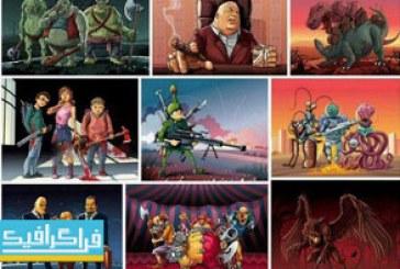 دانلود وکتور صحنه های ترسناک کارتونی
