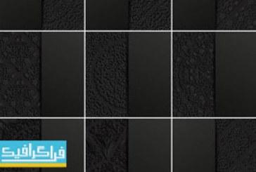 دانلود وکتور پس زمینه های انتزاعی اسلیمی – رنگ سیاه