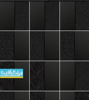 دانلود وکتور پس زمینه های انتزاعی اسلیمی - رنگ سیاه