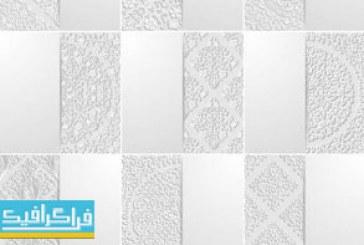 دانلود وکتور پس زمینه های انتزاعی اسلیمی – رنگ سفید