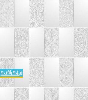 دانلود وکتور پس زمینه های انتزاعی اسلیمی - رنگ سفید