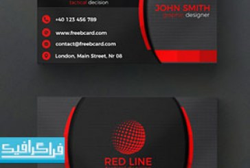 کارت ویزیت لایه باز فتوشاپ قرمز و سیاه – رایگان