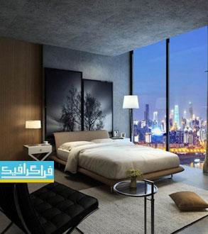 دانلود مدل 3 بعدی اتاق خواب مدرن - شماره 2