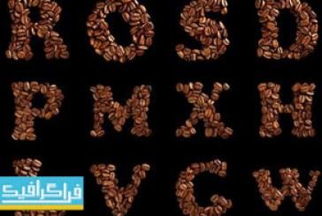 دانلود تصاویر استوک حروف انگلیسی – طرح قهوه