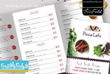 فایل لایه باز فتوشاپ منوی پیتزا و فست فود – شماره 2