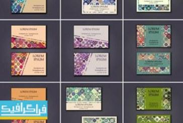 دانلود کارت های ویزیت وکتور گلدار تزئینی