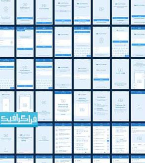 دانلود قالب psd وایرفریم اپلیکیشن - پلت فرم iOS