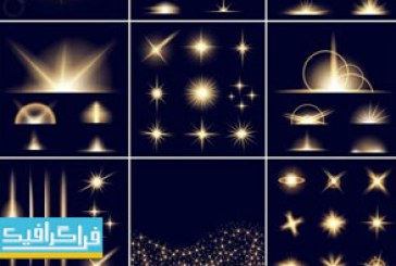 دانلود وکتور افکت های نور درخشان – شماره 4