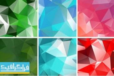 دانلود وکتور پس زمینه های لو پلی مثلثی – Low Poly Backgrounds