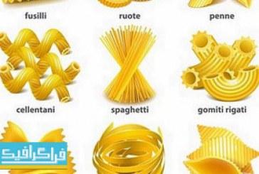 دانلود وکتور های ماکارونی – پاستا – اسپاگتی