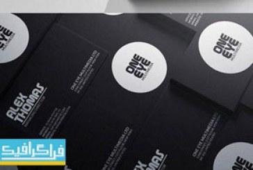 کارت ویزیت لایه باز فتوشاپ طرح مینیمال سیاه