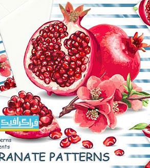 دانلود پترن های میوه انار و گل انار