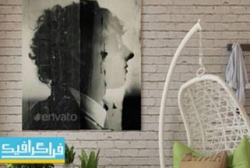 دانلود ماک آپ فتوشاپ تصویر – پوستر روی دیوار – شماره 2