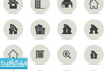 آیکون های مشاور املاک و خانه – رایگان