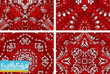 دانلود وکتور پترن های تزئینی قرمز