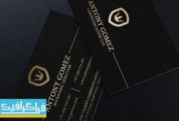 دانلود کارت ویزیت سیاه و طلایی – طرح ساده
