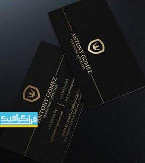 دانلود کارت ویزیت سیاه و طلایی - طرح ساده