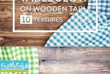 دانلود تکسچر های رومیزی روی میز چوبی