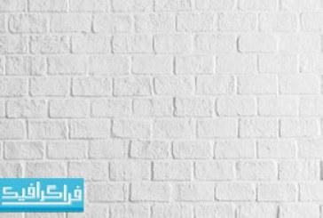 تکسچر دیوار آجری سفید رنگ – رایگان