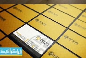 دانلود کارت ویزیت لایه باز فتوشاپ شرکتی زرد