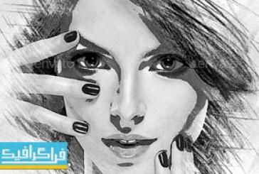 دانلود فایل لایه باز فتوشاپ قالب عکس هنری سیاه و سفید
