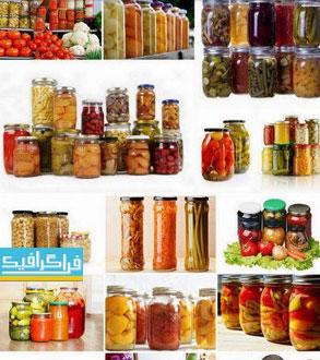 دانلود تصاویر استوک ترشی - Canned Vegetables
