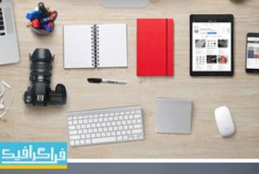 دانلود فایل لایه باز فتوشاپ طراحی وسایل میز طراح