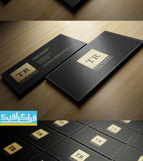 دانلود کارت ویزیت لایه باز فتوشاپ مینیمال طلایی و سیاه