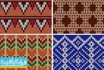 دانلود وکتور پترن های بافتنی – Knitting Patterns