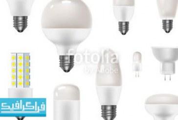 دانلود وکتور لامپ های برق – رایگان