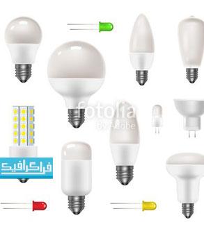 دانلود وکتور لامپ های برق - رایگان